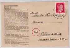1944 Germany Dachau Concentration Camp KZ Letter Cover Ladislaw Komacek Bohemia