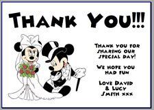 Carta foto personalizzata Grazie Note Disney Mickey Mouse Festa Di Nozze #3