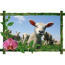 Sticker Bambou déco agneaux964