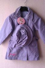 Manteau Imperméable Avec Chapeau (PIRATES GIRL) Violet -2/3/4/5/6/8/10 ANS- Neuf