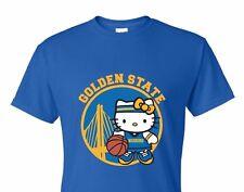 NEW HELLO KITTY T-SHIRT Golden State ,Warriors champion,V-neck,Crew-neck,tanktop