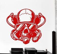 Wall Vinyl Decal Skull Ocean Diving Dive Seal Marine Decor z3867