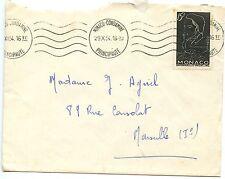 LETTER SEUL SUR LETTRE MONACO / MARSEILLE 1954