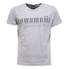 9180S  maglia uomo KNOB used effect colore non uniforme grigio t-shirt men