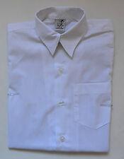 NEW unisex Short Sleeve School Formal Shirt White size 5,6,8,10,12,14,16