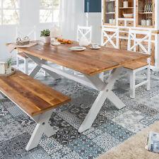 Echtholz Esstisch Rechteckiger Chouchtisch Aus Naturholz Holzstücken Rinde Tisch
