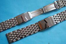 Premium Edel Stahlband massiv 18 20 22 24mm schwere Ausführung