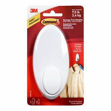3M 17019-ES Command Clothes Hanger Hook, White