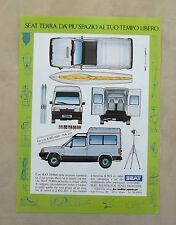 E150 - Advertising Pubblicità -1987- SEAT TERRA
