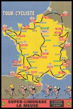 A3 A4 Size - Tour de France 1952 Vintage old cycling Sports Vintage Poster