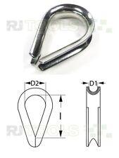 Kauschen - Seilöse - Seilkauschen - Kausche für 2 bis 20 mm seil - Edelstahl !