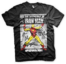 Oficial con licencia Marvel-Iron Men Cubierta Para Hombres Camiseta Tamaño S-XXL (Negro)