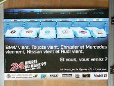Affiche d'époque 24 HEURES DU MANS  1999      Course auto