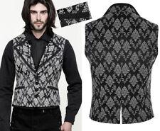 Gilet veste gothique baroque dandy jacquard broderie boutons Punkrave homme NB