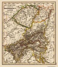 Old Austria Map - Austria, Hungary - Stieler 1852 - 23 x 26.40
