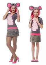 Mauskostüm Plüsch Kostüm Kleid Maus Minni Micky Ratte Mäuse Kinder Mädchen Damen