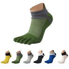Breathable Men's Five Toe Cotton Socks Pure Sports Trainer Running Finger Socks