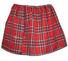Ladies' Tartan Mini Kilt Red Royal Stewart Burns Night Scottish Fancy Dress