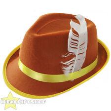 BROWN BAVARIAN HAT OKTOBERFEST WOMENS GERMAN FESTIVAL CAP FANCY DRESS ACCESSORY