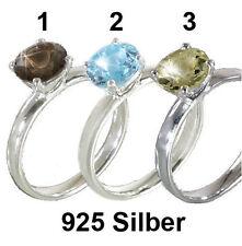 ECHT 925 SILBER RING * CITRIN / AQUAMARIN / RAUCH TOPAZ * Silberring Gr. 50 - 59