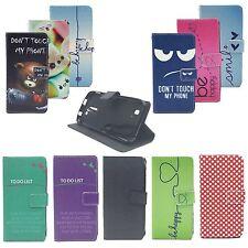 Schutz Hülle Wallet Rahmen Bumper Handy Tasche Case Cover Leder-Imitat Bookstyle
