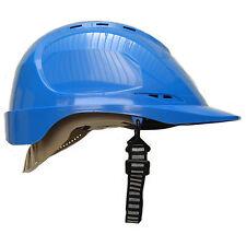 Safety Helmet Work Wear Hard Hat + Free Chin Strap,  Black, Blue, Yellow, White