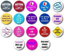 "EXPECTANT PARENTS  (Various Designs) - 1"" / 25mm Button Badge - Pregnancy Baby"