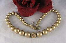 "Dazzling Amber Rhinestone Beaded 18""  Necklace CAT RESCUE"