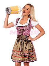 Ladies Costume Fancy Dress Up (175) Oktoberfest German Bavarian Beer Maid 6-16