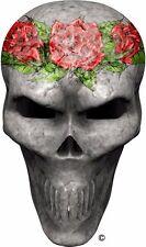 Red roses faded skull window golf cart go kart vinyl graphic decal