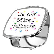 MIROIR DE POCHE - JE SUIS MERE...VEILLEUSE - FÊTE DES MERES - MAMAN -10 COULEURS