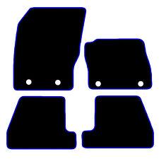 FORD Focus 2014+ NERO SU MISURA PER AUTO TAPPETINI tappeti Blu o Rosso bordatura ST RS