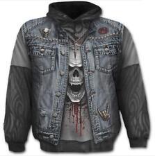 Spiral Direct THRASH METAL Hooded,Skeleton/Skulls/Biker/Dark Wear/Pullover/Hood