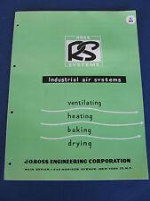 J. O. Ross Engineering Corp. 1954 catalog Asbestos Manufacturing Equipment
