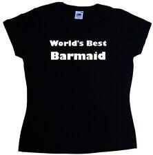 World's Best Barmaid Ladies T-Shirt