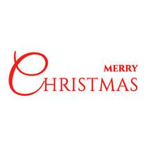 Merry Christmas Wall Sticker Vinyl Decal Transfer home shop retail window