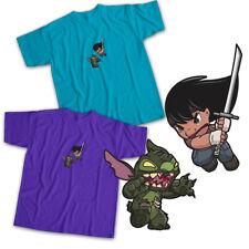 Disney Lilo & Stitch Walking Dead Michonne Zombie Crossover Unisex Tee T-Shirt
