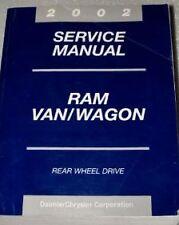 2002 DODGE RAM VAN WAGON Service Repair Shop Manual FACTORY OEM 02 BOOK HUGE