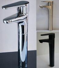 New Monobloc Basin Sink Worktop Black Tall Mixer Kitchen Bathroom Tap