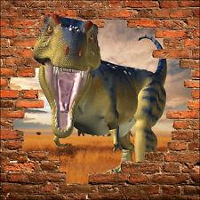 Sticker mural trompe l'oeil dinosaure réf 867