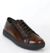 Salvatore Ferragamo Men's Fulton Chocolate Brown Leather Sneakers 659676