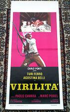 VIRILITà locandina poster Turi Ferro Belli Commedia Gun Fucile 1974 P86