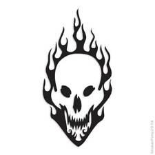 Skull Flames Fire Decal Sticker Choose Pattern + Size #1383