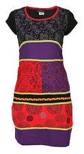 artigianale Cotone Hippie NATURALE Kathmandu abito boho rétro patchwork