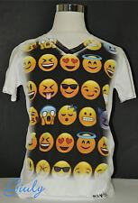 T-shirt maglia SMILE simpatica Spiritosa IDEA REGALO uomo-donna  faccette Movida