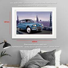 Citroen Ami 6 A3 Poster Print