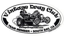 "Drag Racing Decal Altered 5"" Oval Vintage Drag Club NHRA"