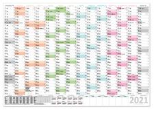 XXXL Wandkalender Special A0 2020 Stifteset 2021 nass abwischbar 120x80cm