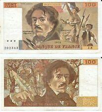 100 FRANCS DELACROIX de 1978  J. 8