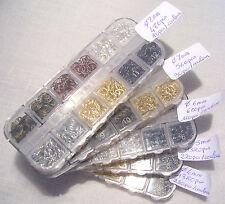 BOITE ANNEAUX de JONCTION OUVERT 6 COLORIS diamètre de 4 à 8 mm  Breloque Perles